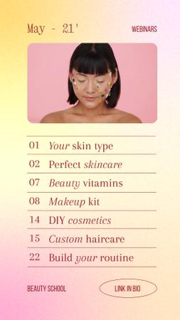 Plantilla de diseño de Skincare Ad with Flowers on Girl's Face Instagram Video Story