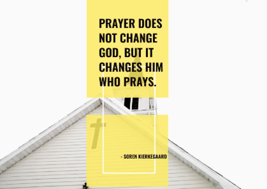 Religion citation about prayer Card Modelo de Design