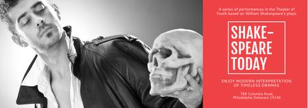 Designvorlage Theater Invitation Actor in Shakespeare's Performance für Tumblr