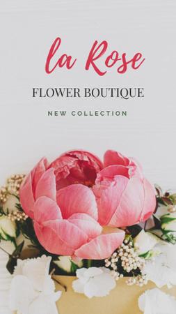 Plantilla de diseño de Flower Boutique Offer with Tender Roses Instagram Story