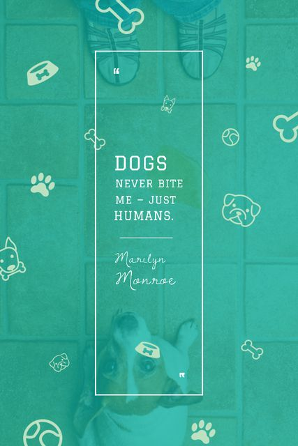Szablon projektu Dogs Quote with cute Puppy Tumblr