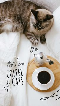 Cat by Morning Coffee
