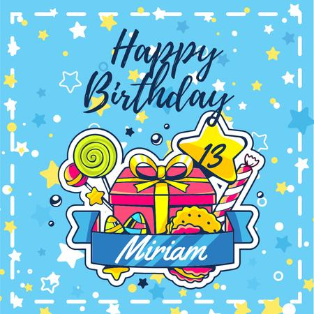 Birthday Greeting with Bright Gifts Instagram Modelo de Design