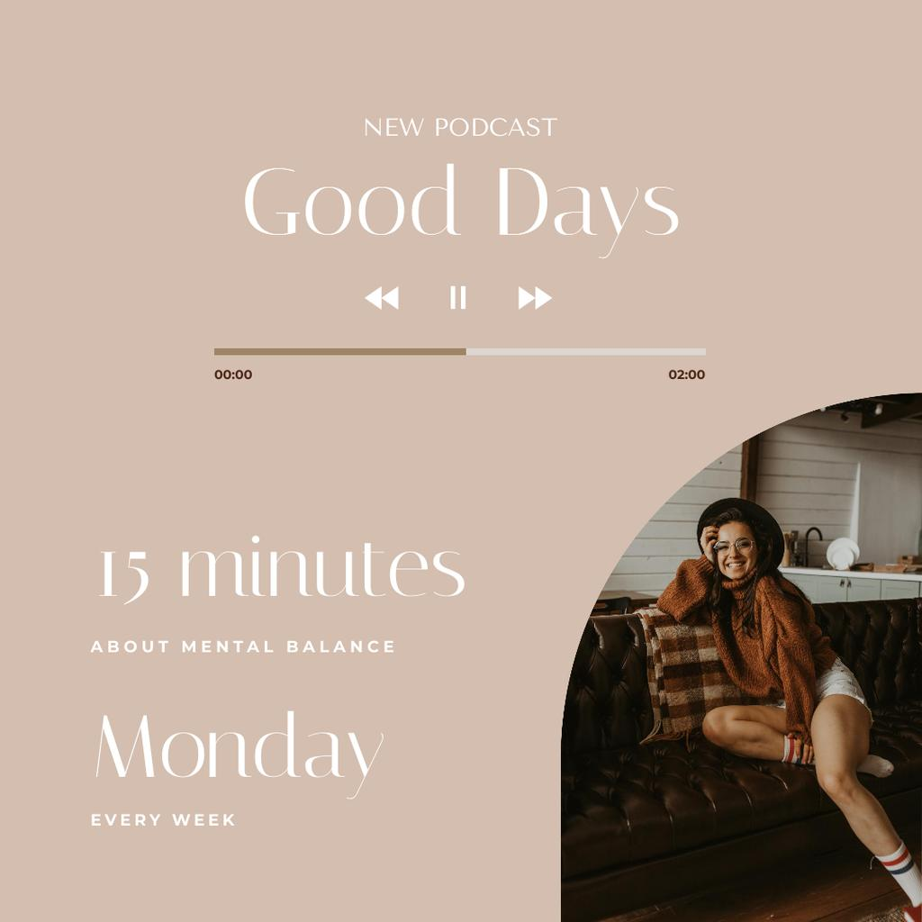 Mental Health Inspiration with Stylish Girl Instagram Design Template