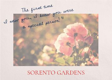 Sorento gardens advertisement