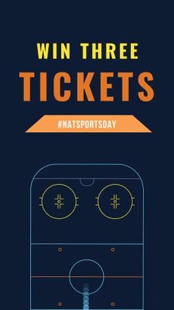 Designvorlage Hockey Match Tickets Offer für Instagram Story