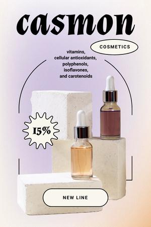 Plantilla de diseño de Skincare Offer with Cosmetic Oil Bottles Pinterest