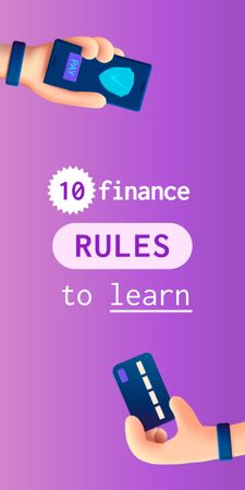 Finance Rules with Banking application Graphic Tasarım Şablonu