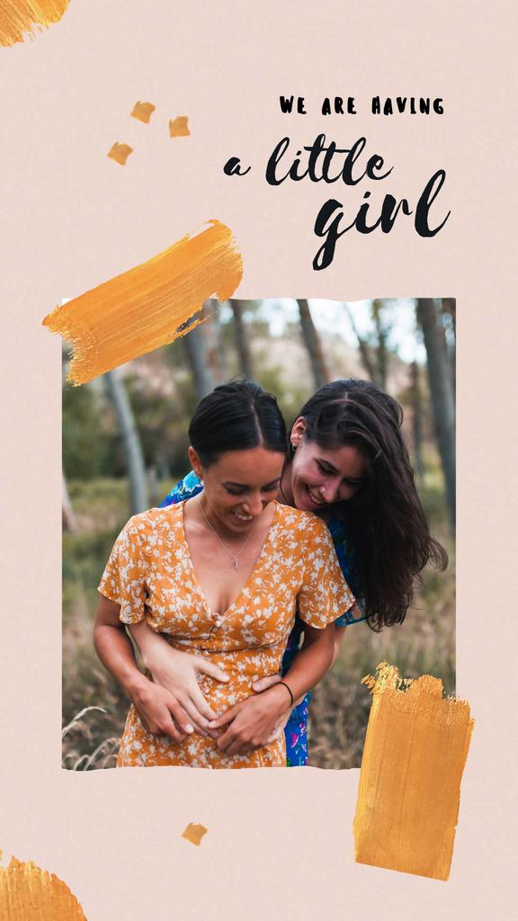 Cute LGBT Couple expecting Baby Instagram Story Modelo de Design