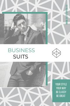Business suits sale advertisement