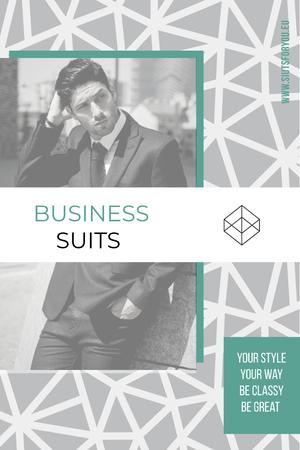 Plantilla de diseño de Business suits sale advertisement Pinterest