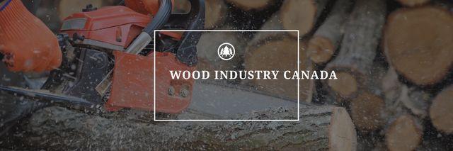 Wood industry Canada poster Twitter Modelo de Design