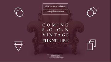 Antique Furniture Ad Luxury Armchair