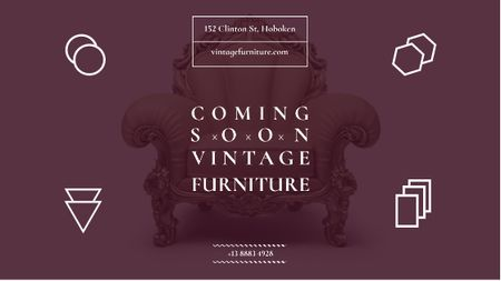 Antique Furniture Ad Luxury Armchair Title – шаблон для дизайну