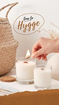 Cozy Atmosphere with Aromatic Candles Instagram Story Design Template