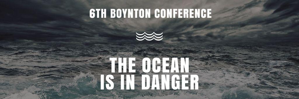 Ecology Conference Invitation Stormy Sea Waves Twitter – шаблон для дизайна