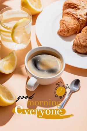 Breakfast with Fresh Cereals Pinterest Design Template
