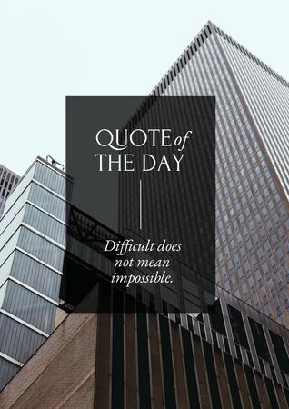 Business Quote with City Skyscrapers Poster Modelo de Design