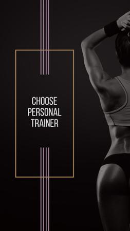 Personal Trainer Offer with Athlete Woman Instagram Story Tasarım Şablonu