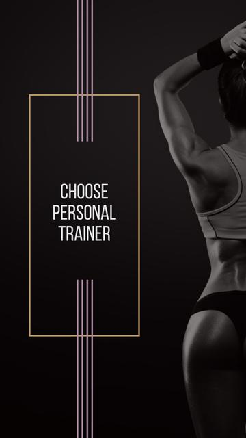 Personal Trainer Offer with Athlete Woman Instagram Storyデザインテンプレート