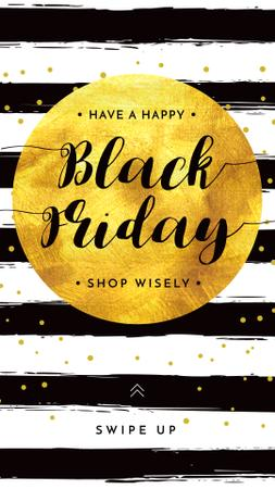 Plantilla de diseño de Black Friday Bright Announcement Instagram Story
