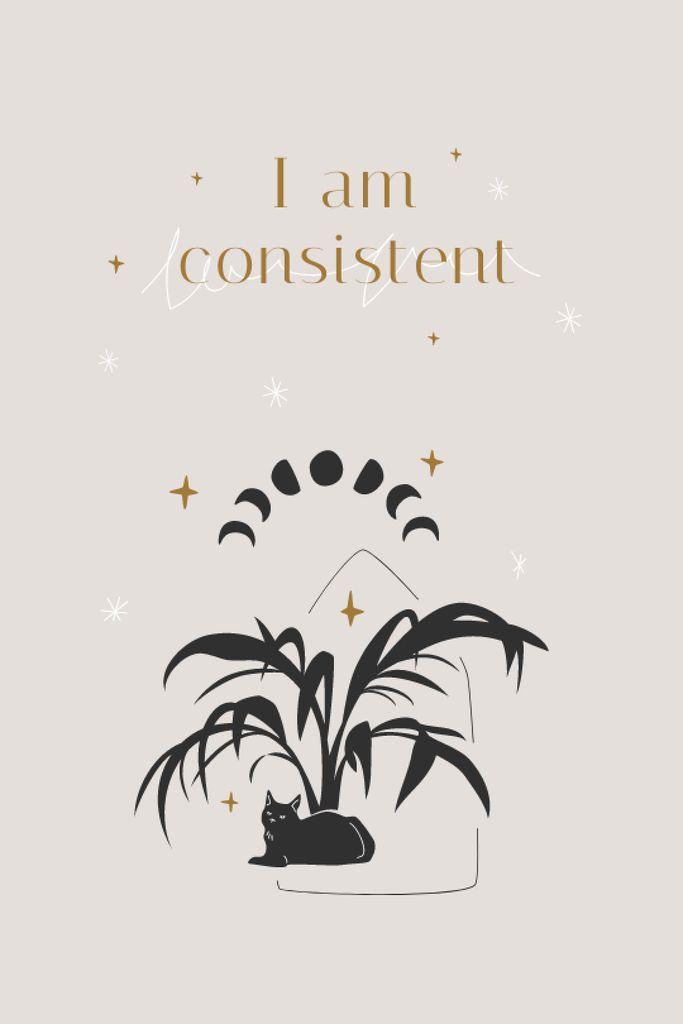 Mental Health Inspiration with Plant and Cat Tumblr – шаблон для дизайна