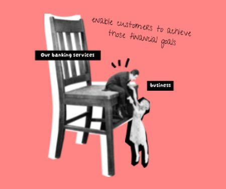 Plantilla de diseño de Funny concept of Bloggers and Business cooperation Medium Rectangle