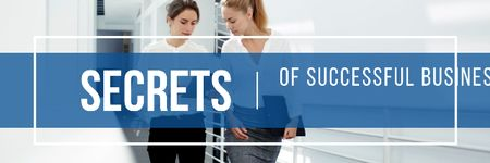 Modèle de visuel Secrets of successful business - Email header