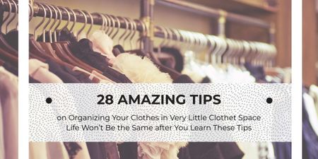 Tips for organizing clothes poster Imageデザインテンプレート