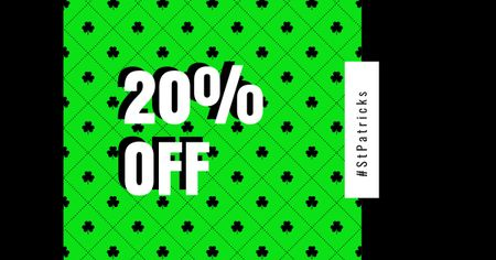 Ontwerpsjabloon van Facebook AD van Holiday Discount on St.Patrick's Day