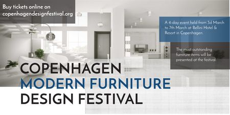Template di design Copenhagen modern furniture design festival Twitter