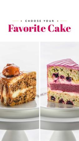 cakes Instagram Story – шаблон для дизайну