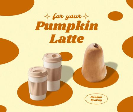 Autumn Pumpkin Latte Offer Facebook Design Template