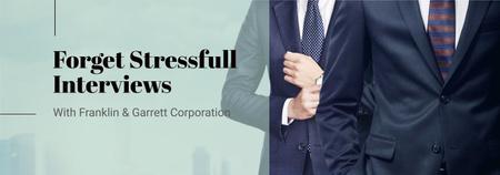 Designvorlage Business Interview Invitation Businessmen in Suits für Tumblr