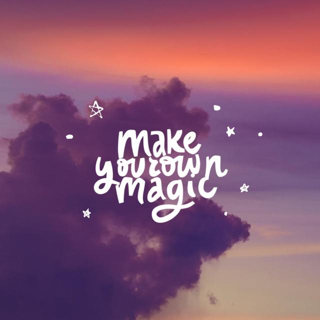 Inspirational Quote on Sunset Sky Animated Post – шаблон для дизайну
