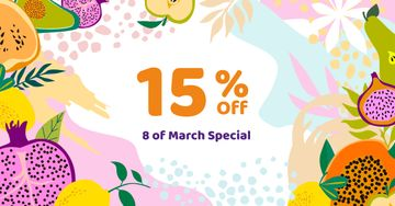 March 8 Discount Offer in Fruits Frame