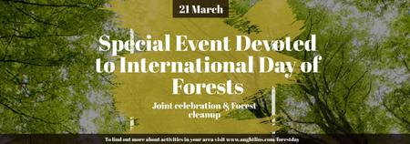 Template di design International Day of Forests Event Tall Trees Tumblr