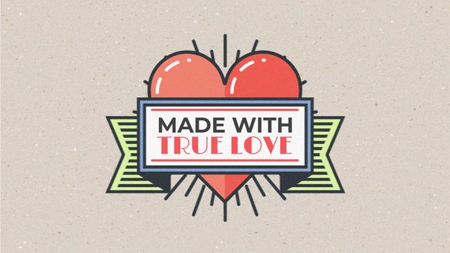 Plantilla de diseño de Flickering heart with ribbon for Valentine's Day Full HD video