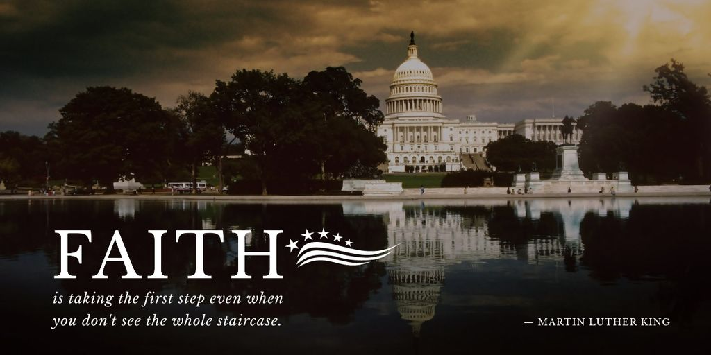 Designvorlage Martin Luther King Day Greeting with the Capitol für Image