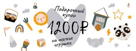 Birthday Offer with Cute Toys Coupon – шаблон для дизайна