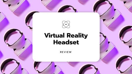 Plantilla de diseño de Virtual Reality Headset Sale Ad Youtube Thumbnail