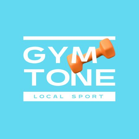 Gym Ad with Weight Illustration Logo – шаблон для дизайну