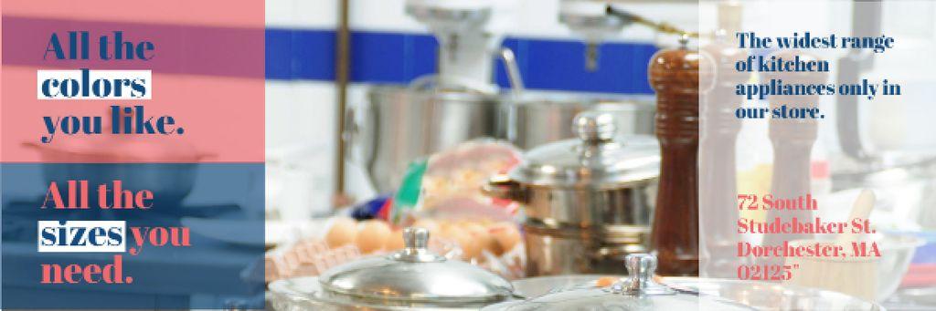 Kitchen appliances store Offer Email header – шаблон для дизайна