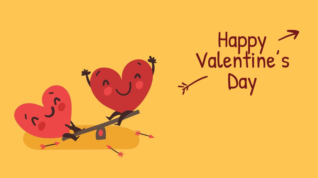 Happy Valentine's Day Hearts on seesaw — Créer un visuel