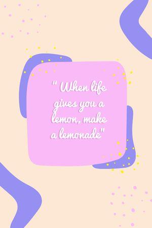 Inspirational Quote on Bright Pattern Tumblr tervezősablon