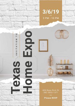 Template di design Modern interior with golden elements Invitation