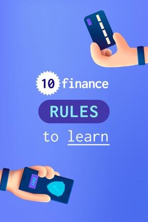 Finance Rules with Banking application Pinterest Design Template