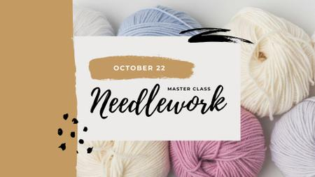 Colorful Threads for Sewing and Knitting FB event cover – шаблон для дизайна