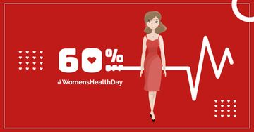 Women's Health Day with Woman in red