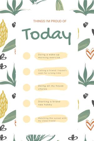 Modèle de visuel Check list for Day to be Proud of - Pinterest